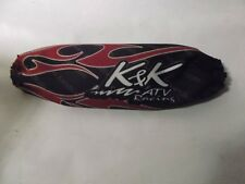 K&K ATV Rear Shock Cover Single Black Tribal Blue Flame A202 New In Stock