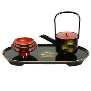 "Japanese Wedding Lacquer Sake Set Pine ""TOSOKI"" San San Kudo Ceremony/Made Japan"
