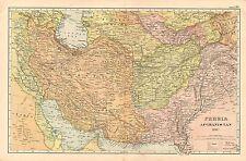 1908 LARGE VICTORIAN MAP ~ PERSIA AFGHANISTAN KERMAN BOKHARA INDIA