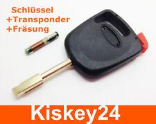 Ersatz Schlüssel + Transponder + Fräsung für FORD FOCUS FIESTA MONDEO KA TRANSIT