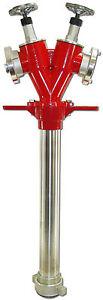 STANDROHR DN 50 2x Storz C absperrbar & drehbar Feuerwehr Hydrantenstandrohr