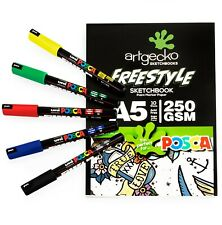 Artgecko A5 Freestyle Sketchbook - White Paper - 10 Sheets + PC-1MR Basic 5 Set
