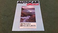 March 1989 SUZUKI SWIFT 1.3 GTi AUTOCAR ROAD TEST REPRINT UK BROCHURE