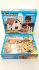 Vintage ERTL FarmCountry Dairy Barn & Longhorn Ranch Building Toy Sets