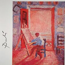 SALVADOR DALI HAND SIGNED * SELF-PORTRAIT OF THE ARTIST ... *  PRINT W/ C.O.A.