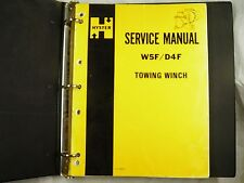 Hyster  D4F W5F towing winch Service & parts manual