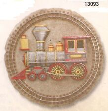 Train Engine Resin Stepping Stone / Wall Plaque, Nib [13093] OoP by Spoontiques