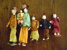 New listing Antique Chinese Composition Doll with wire stands. Family of Five.
