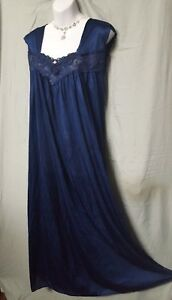 Comfort Choice  WW Blue Nightgown Long Sleeveless Sexy   2X  3X  4X  5X