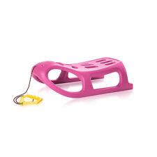 Schlitten SEAL Kinderschlitten Kunststoff Zugseil rosa