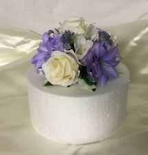 wedding flowers beautiful ivory & lilac rose cake  topper