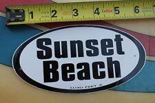 Sunset Beach Luau Feet Classic Oval Aloha (Hawaii 3) Vintage Surfing Sticker