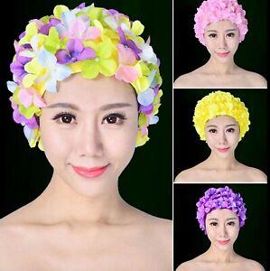 Flower Swimming Cap - PINK, MULTICOLOURED, PURPLE - Flower Design