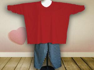 Oversized Shirt, extra lange Ärmel Gr. von 48 - 64,Jersey,Baumwolle, rot