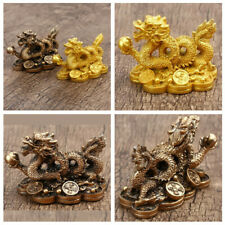 Feng Shui Chinese Zodiac Twelve Statue Gold Dragon Statue Home Decoration Crafts