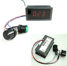 DC 6-30V 12V 24V 8A Digital Display Motor Treiber PWM Speed Controller+Schalter