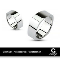 Ring Herren Damen Edelstahl Quadrat Square Poliert Partnerring