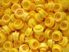 25 x LEGO Yellow round plate ref 4073 / set 4554 8364 10184 10189 8464 8459 6277