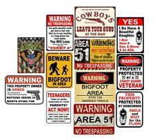 Retro Metal Tin Signs Warning Area 51 Poster Vintage Plate Art Wall Decor