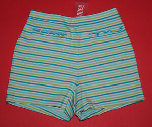 6 NWT Gymboree ISLAND FUN Blue Green Striped SHORTS Girls
