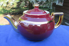 Hall China BOSTON TEAPOT..MAROON/GOLD LABEL..downsizing PREMIER collection!