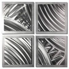 Abstract Metal Art Modern Wall Decor 3D Accent Sculpture Original Etching