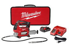 18-Volt Cordless Grease Gun 2-Speed w/ Battery, Charger Tool Case flex hose M18