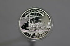 GERMANY 10 EURO 2010 EISENBAHN SILVER PROOF B22  LT24