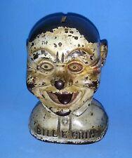 Cast Iron BUST Bill E. Grin Mechanical Bank. CIRCA 1915