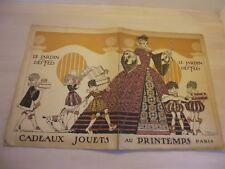 Superbe catalogue de jouets Le Jardin des fées Au Printemps Paris vers 1910