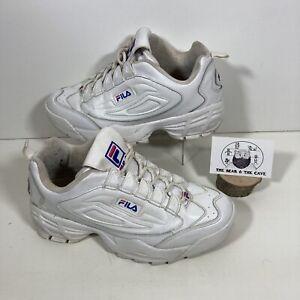 FILA Disruptor Triple White Retro Sneakers Trainers Shoes UK Size 6