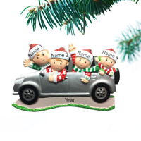 Personalized Christmas Tree Ornaments for Family of  3 4 5 6 SUV Trip Holiday