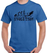 Scuba Diving Evolution Mens Funny T-Shirt Snorkel Equipment Gear Sea Air Tanks