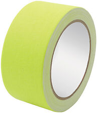 "GAFFERS TAPE FLUORESCENT YELLOW 2"" WIDE X 45' ALLSTAR HOWE LONGACRE"