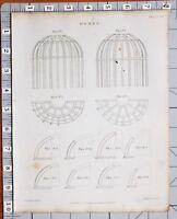 1822 Aufdruck Architektur Kuppeln Dächern