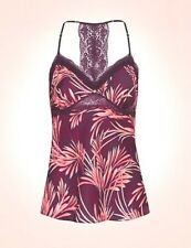ROSIE FOR AUTOGRAPH Satin Printed Strappy Camisole Top Size 6