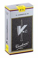 Vandoren V.12 Bb Clarinet Reeds, Strength 3.5, 10 Pack