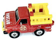 Micro Machines Vehicle Rescue Fire Department Datsun Yellow Red Truck Car Auto