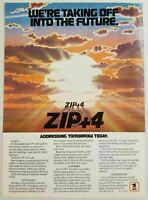 1984 Print Ad U.S. Mail Zip + 4 Code New Zip Code System Into the Future
