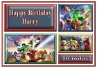 lego avengers personalised A5 birthday card son brother nephew grandson name age