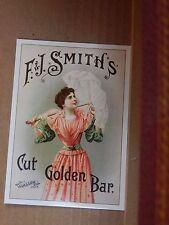 Postcard Advertising f.7J Smiths Golden bar Tobacco Old Advert Modern card