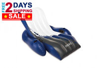 """LUXURY Floating Recliner Inflatable Lounge 71x53"""" Large Pool Float Hammock Chair"""
