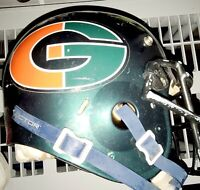 SCHUTT Youth, FOOTBALL HELMET w/ FACE MASK and SHOCK DOCTOR CHIN STRAP.