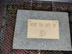 Personalised Wooden personalised Gin sign plaque wine beer gifts bar pub