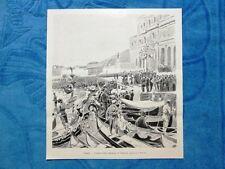 Illustrazione Italiana 1898 - Venezia. Arrivo degli Imperiali di Germania 1898