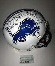 Barry Sanders Signed Full Size White Detroit Lions Autographed w/6 Inscriptions