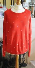 Red sweater with pink hearts size XL