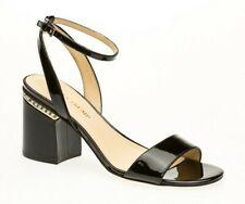 Ivanka Trump Women's Anina Ankle Strap Patent Black Block Heel Size 8 M US