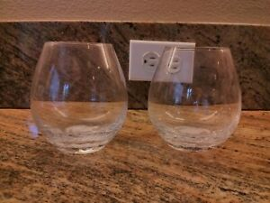 Pier 1 Crackle ~2~ Stemless Wine Glasses New Multiples Available