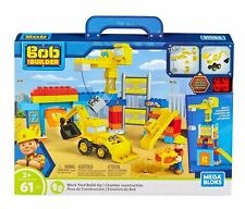 Mattel Mega Blox Bob the Builder FFF24 Work Yard Build-up Construction Toy